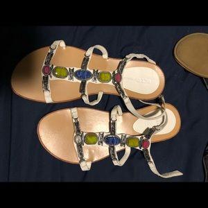 Colorful BCBG sandals
